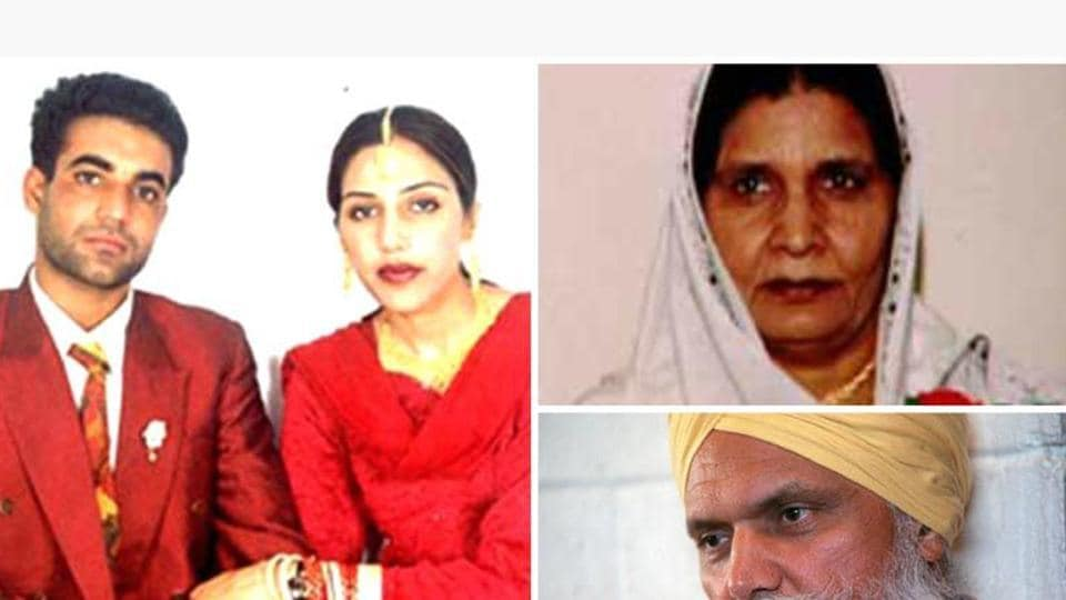 Jaswinder Jassi Sidhu with husband Jassi. She was killed by men allegedly hired by her mother Malkit Kaur (top right) and uncle Surjit Singh Badesha.