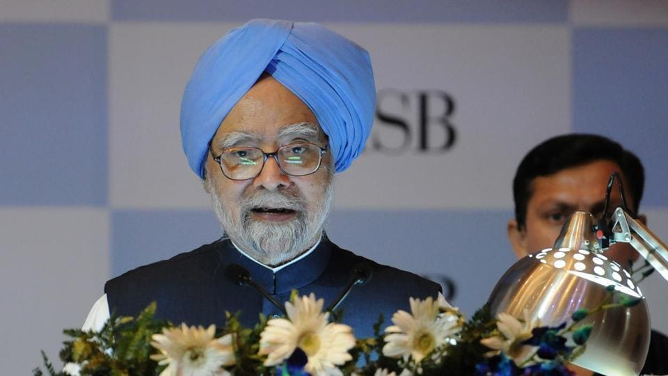 Former PM Manmohan Singh said the economy slowed down due to demonetisation as well glitches in the implementation of the GST regime.