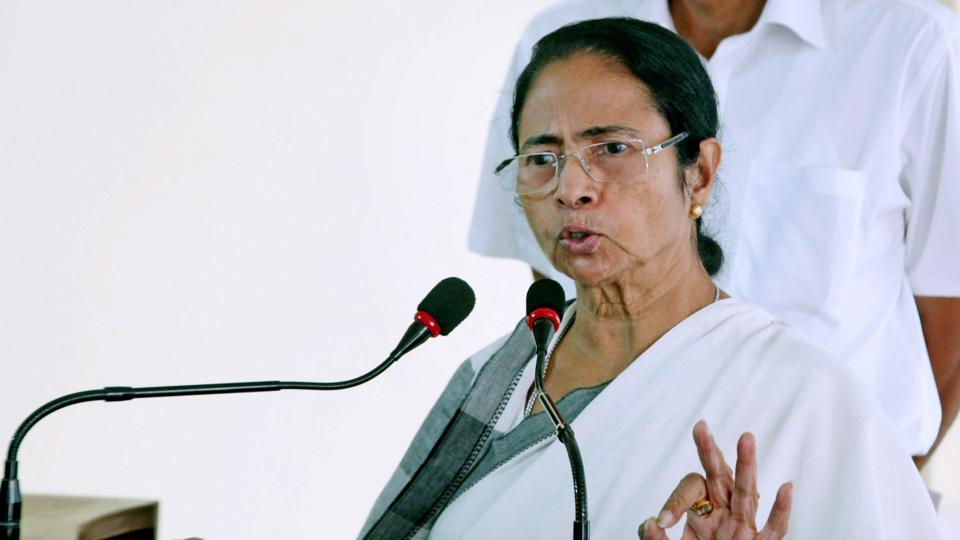West Bengal chief minister Mamata Banerjee addresses a press conference at Nabanna (State Secretariat) in Kolkata on Saturday.