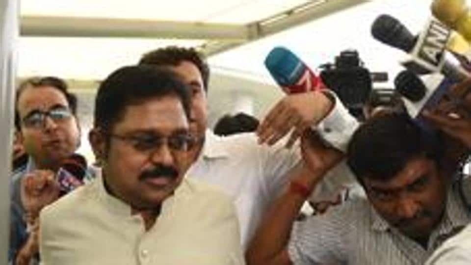 Rebel AIADMK leader TTV Dinakaran has been sidelined by chief minister Palaniswami-led group.