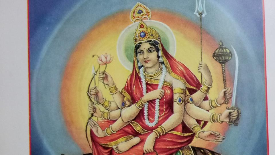 Goddess Chandraghanta blesses devotees with fame and power.