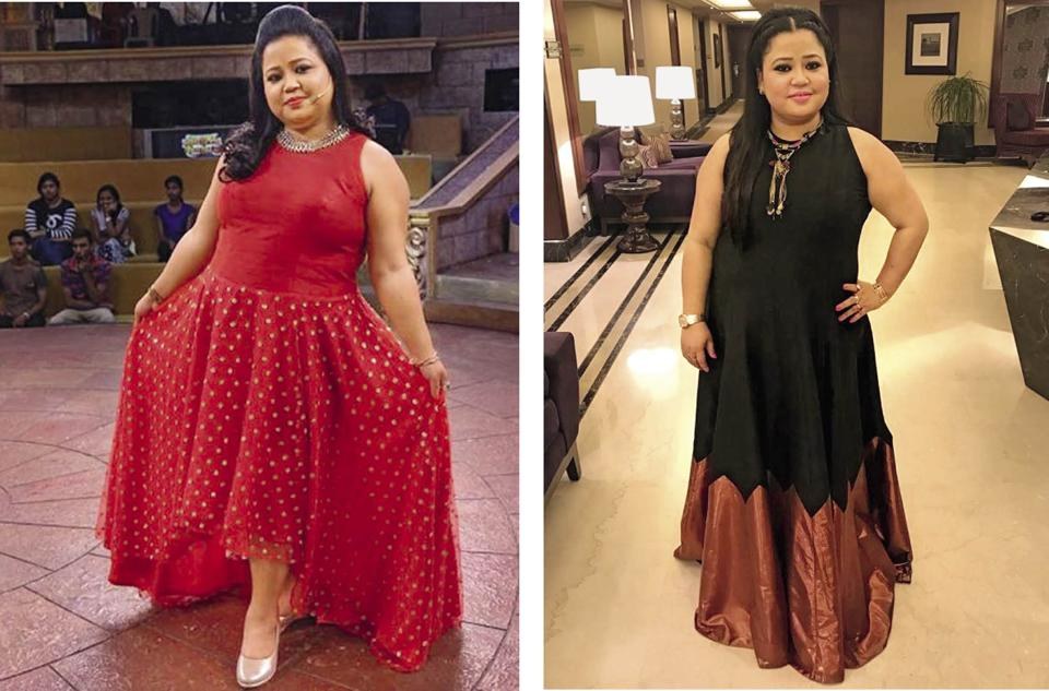 Bharti Singh lost 10 kgs and went from being 92kgs to 82kgs (Make-up by Vishnu and Nitin; Hair by Noorjehan)