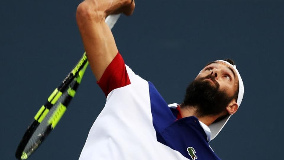 Benoit Paire beat David Goffin 7-6 (3), 5-7, 7-6 (7) to enter the semifinals of the Moselle Open in Metz
