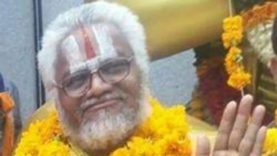 Self-styled godman Falahari Maharaj is accused of raping a 21-year-old law student. (HT file photo)
