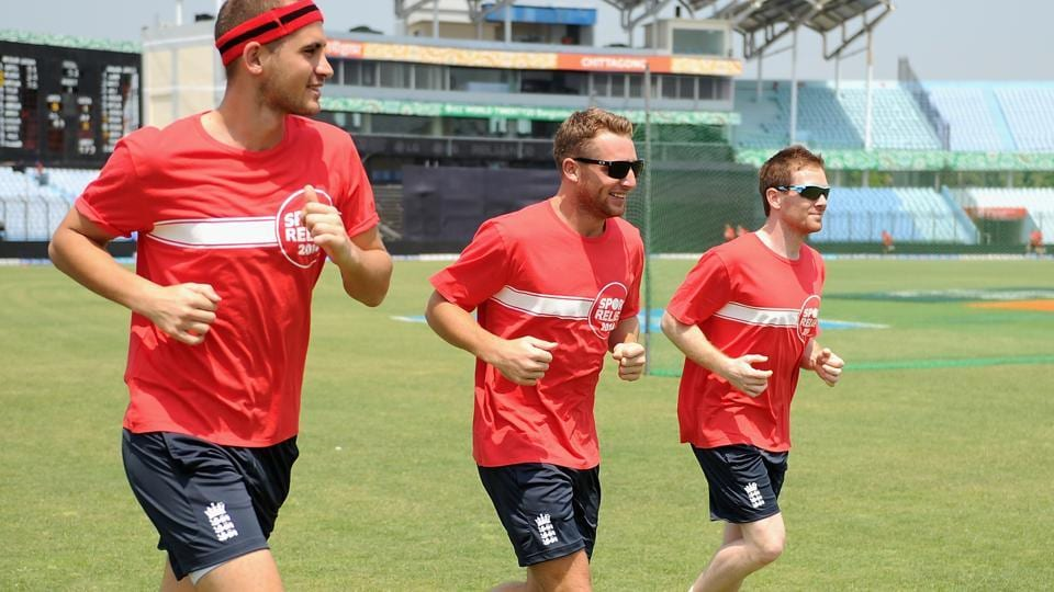 England cricket team ODI skipper Eoin Morgan (right) with Alex Hales (left) and Jos Buttler (centre). Hales and Buttler could get included in the English squad for the Ashes series against Australia cricket team.