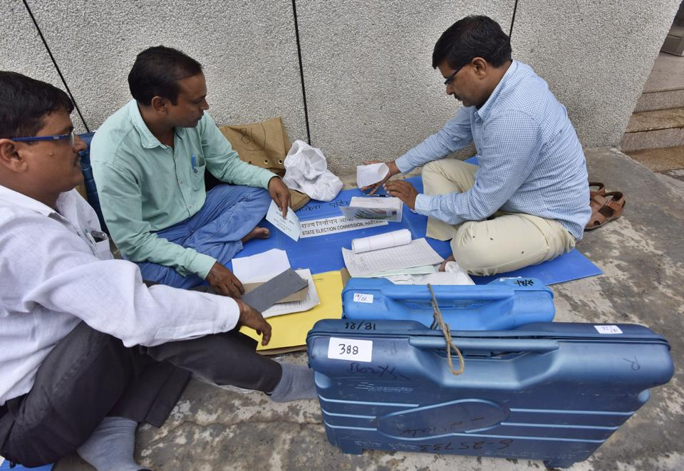 Polling officials busy with preparations a day ahead of the MCG elections.