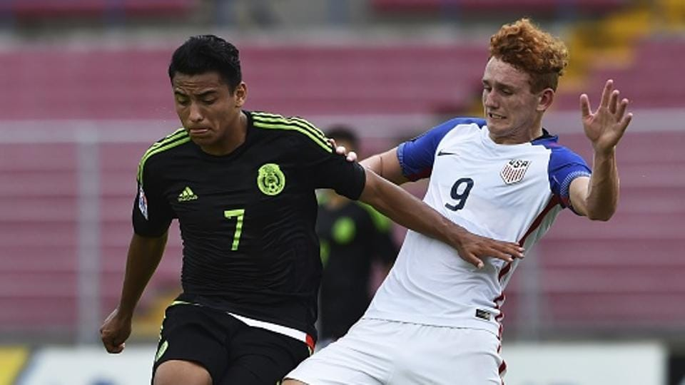 Mexico's Jairo Torres (L) and USA's Josh Sargent will look to impress at the FIFA U-17 World Cup.