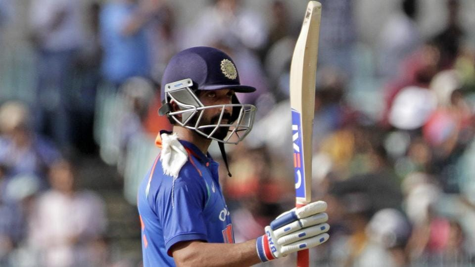 India's Ajinka Rahane acknowledges the crowd after scoring fifty runs during the second one-day international cricket match against Australia at Eden Gardens in Kolkata, India. Ajinkya Rahane has emphasised the need for batsmen to make mental adjustments in Virat Kohli's Indian cricket team that is keen on experimenting and making the batting order flexible.