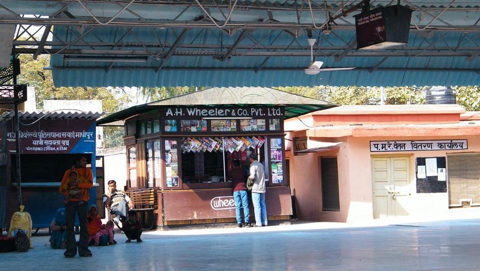 A Wheeler bookstore at the Sawai Madhopur railway station in Rajasthan.