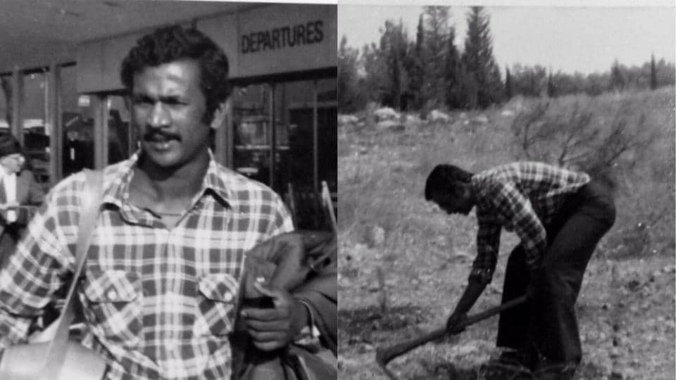 Jitendra Ladkat, a young farmer from Pune, learning various agricultural techniques in Israel in 1978.
