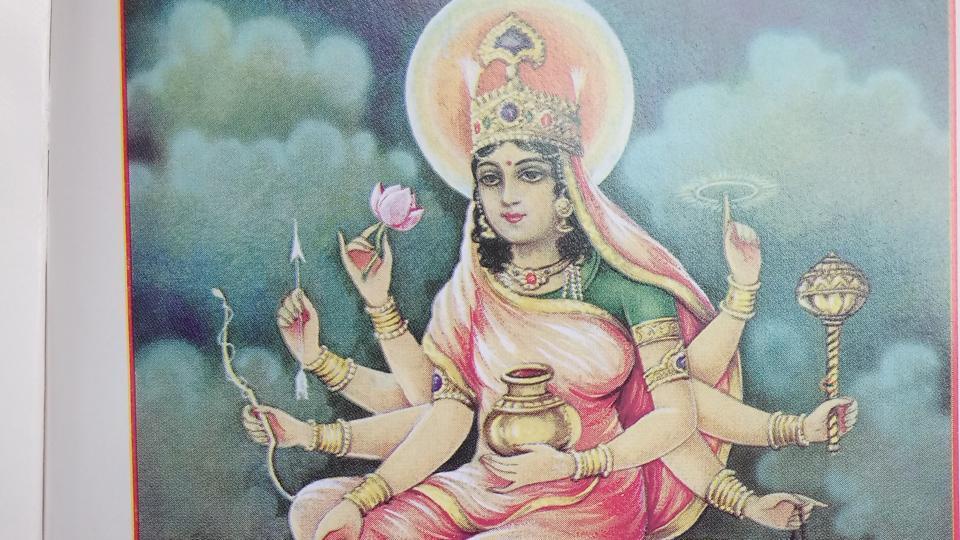 Devotees worship Goddess Kushmanda for good health, prosperity and strength.