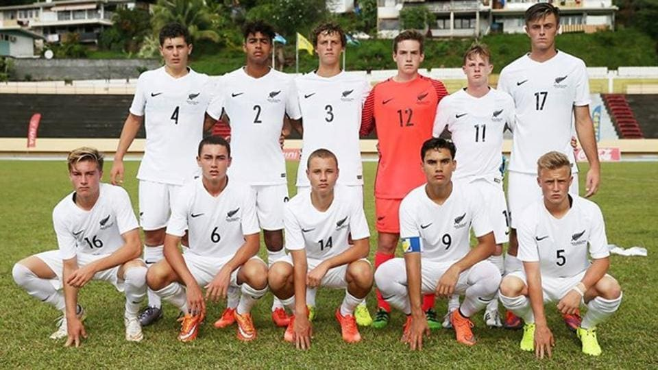 New Zealand's U-17 team arrive in India as Oceania champions.