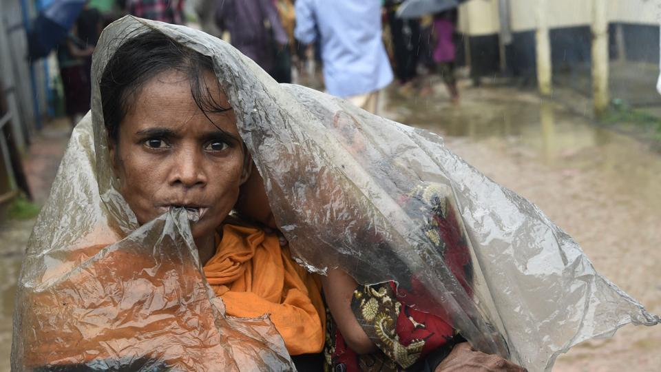 A Rohingya Muslim at the Leda refugee camp near the Bangladesh district of Teknaf. Aung San Suu Kyi  has said she does not fear global scrutiny over the Rohingya crisis, pledging to hold rights violators to account but refusing to blame the military for violence that has driven some 421,000 of the Muslim minority out of her country.