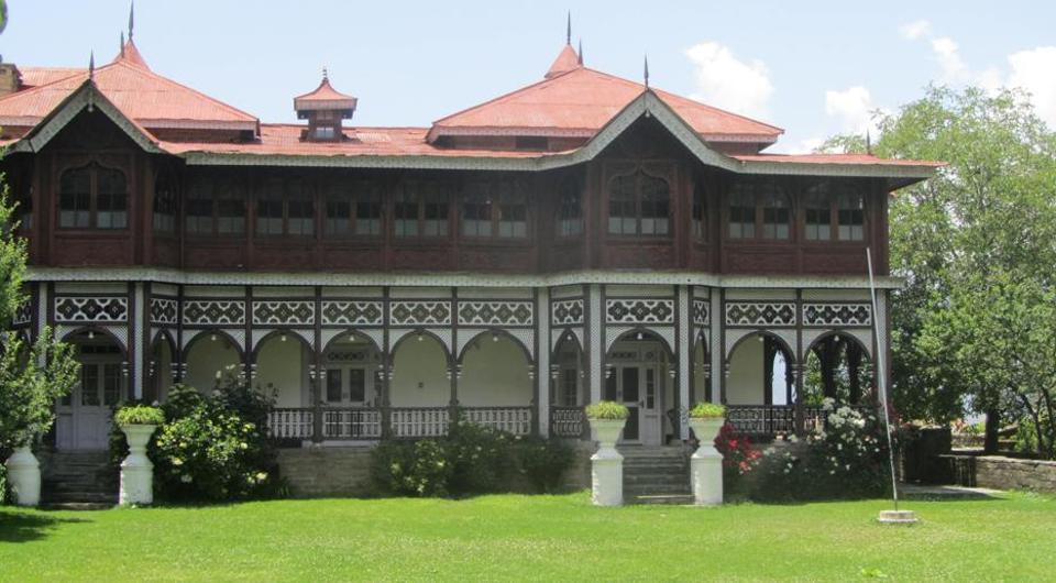 Himachal chief minister Virbhadra Singh's ancestral palace, 'Shanti Kunj', at Sarahan.