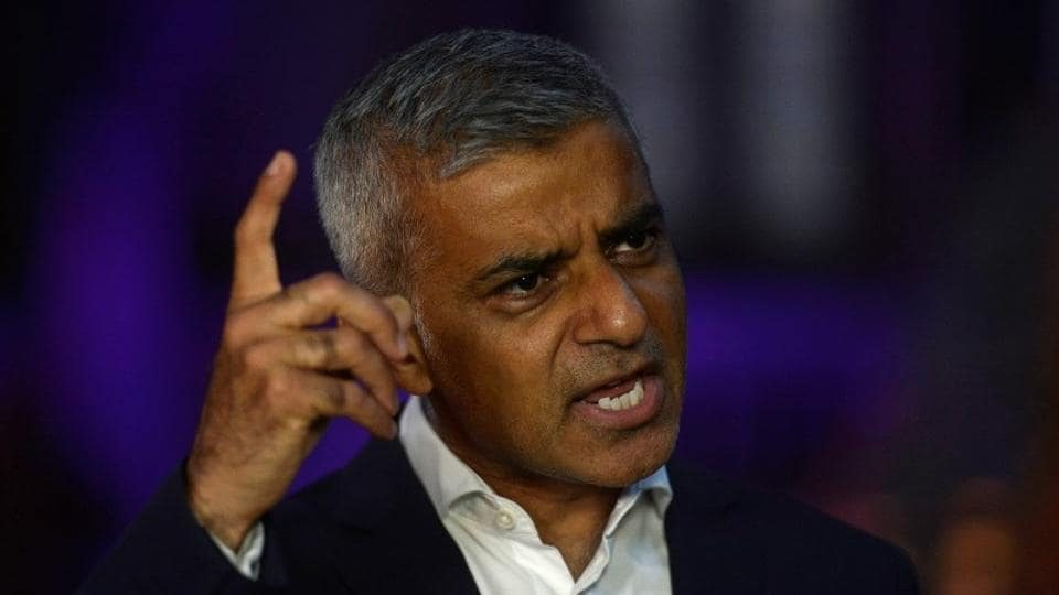 The mayor of London Sadiq Khan speaks at the launch of the city's Autumn Season of Culture at the Natural History Museum in London, Britain August 31, 2017.