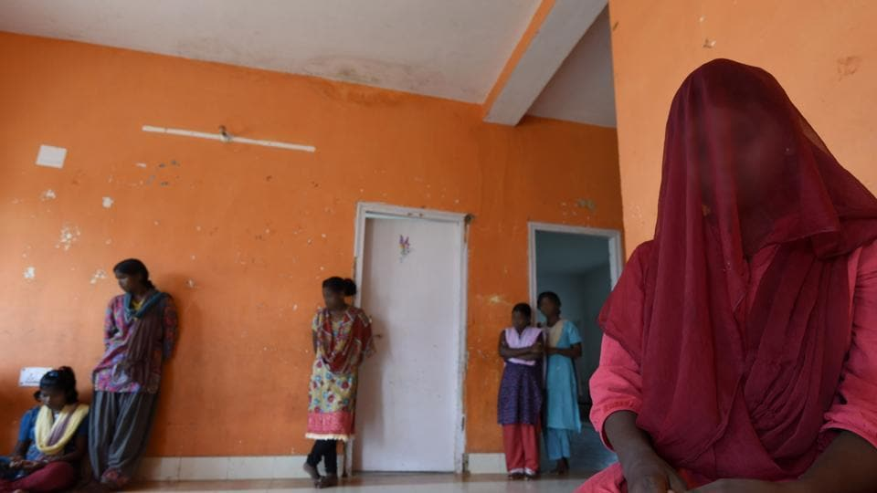 Rescued victims of Trafficking at Sahyog Village