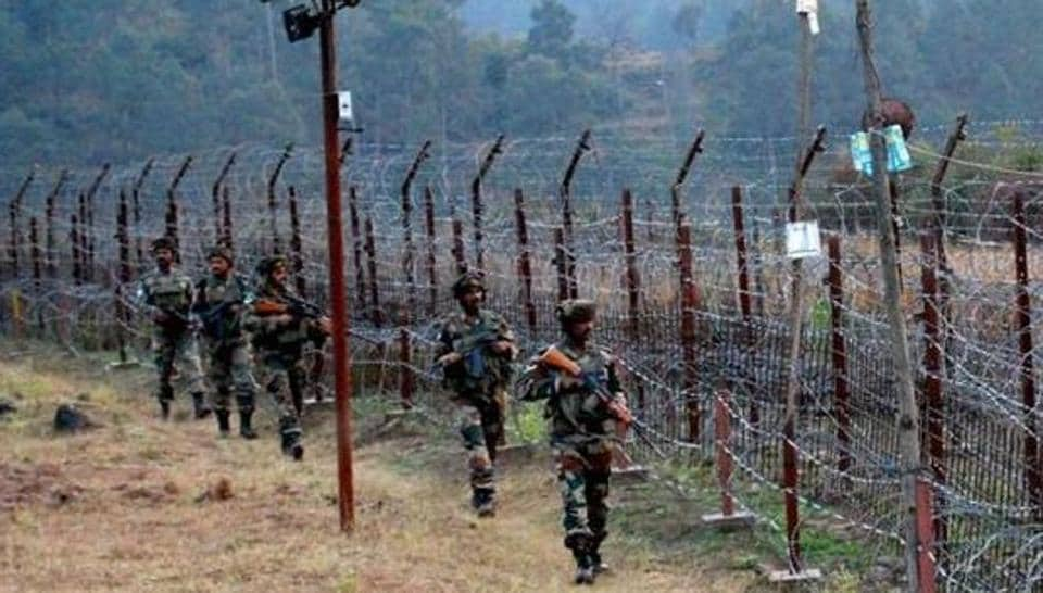 Indian soldiers stand guard near the Line of Control. (PTI File Photo)
