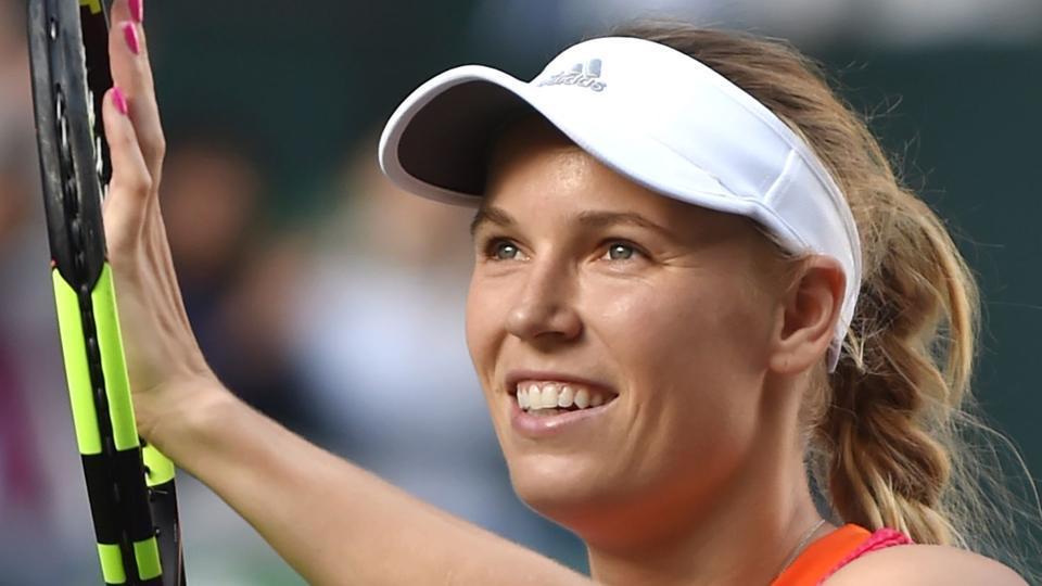Caroline Wozniacki celebrates her win over Anastasia Pavlyuchenkova in the Pan Pacific Open final.