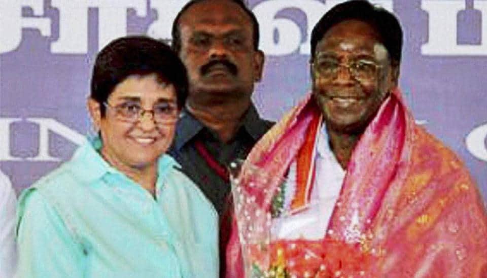 Puducherry Lt Governor Kiran Bedi and chief minister V Narayanasamy have been at loggerheads.