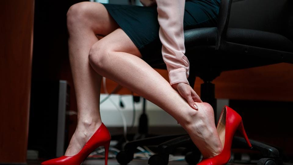 """The department order said female sales clerks and security guards who had been compelled to work in high heels suffered from sore feet, aching muscles and """"hazardous"""" pressure on joints."""