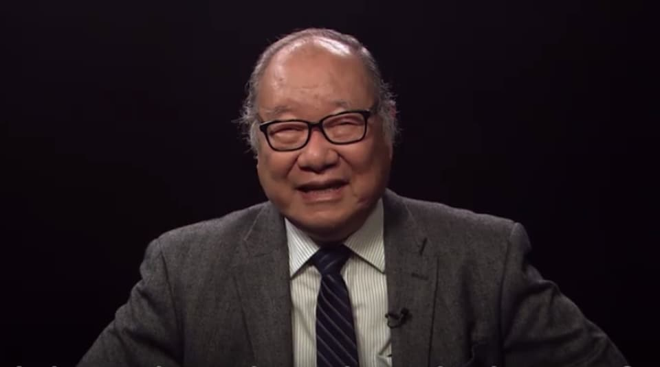 Nobu Hanaoka says he suffered from survivor's guilt after the atomic bombing.