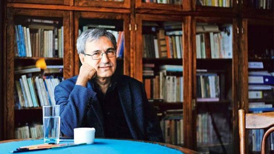 Orhan Pamuk at his home in Istanbul.