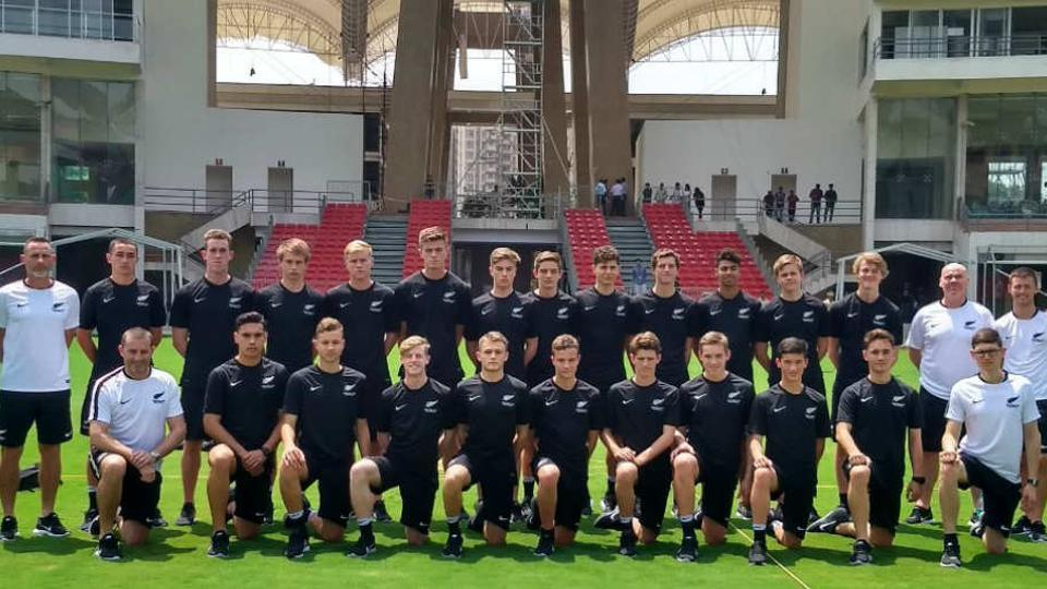 The New Zealand U-17 football team at the DYPatil Stadium in Navi Mumbai, the venue for the FIFA U-17 World Cup preliminary group matches.