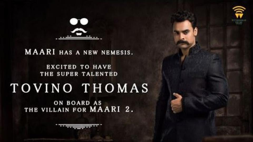New addition to Dhanush's Maari 2 cast, Tovino Thomas to play baddie