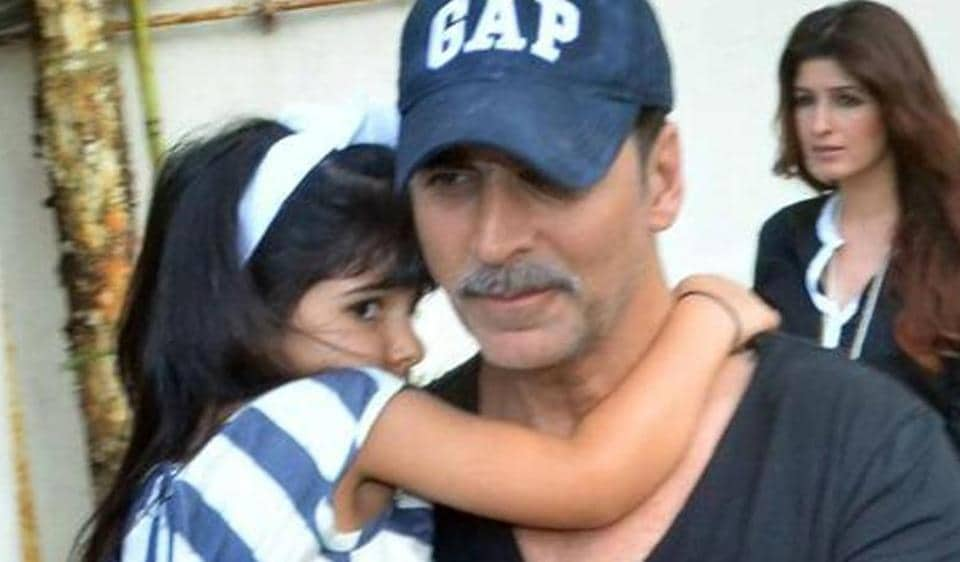 As Akshay Kumar's daughter Nitara turns five, the star shared an adorable video.