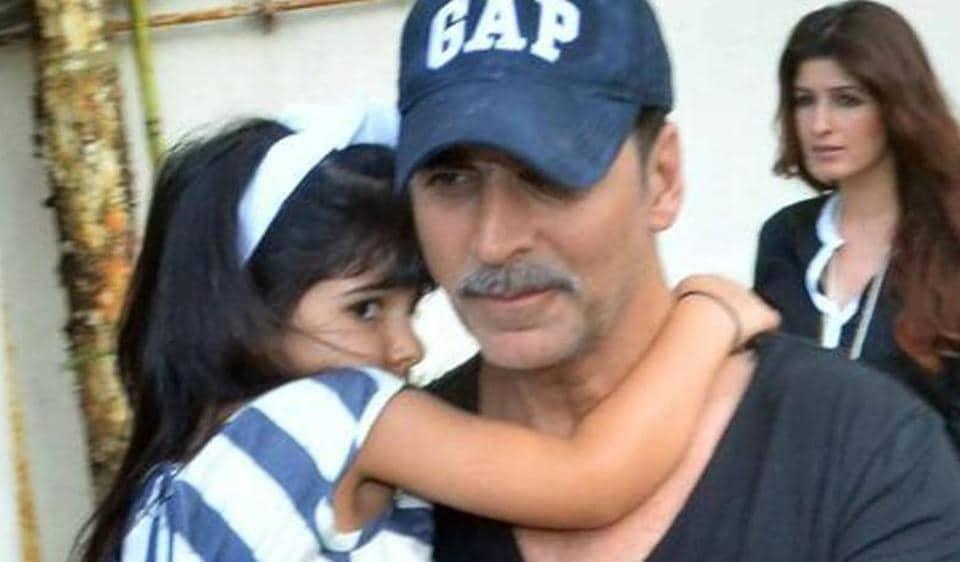 As Akshay Kumar's daughter Nitara turns five, the star shared an adorable video.
