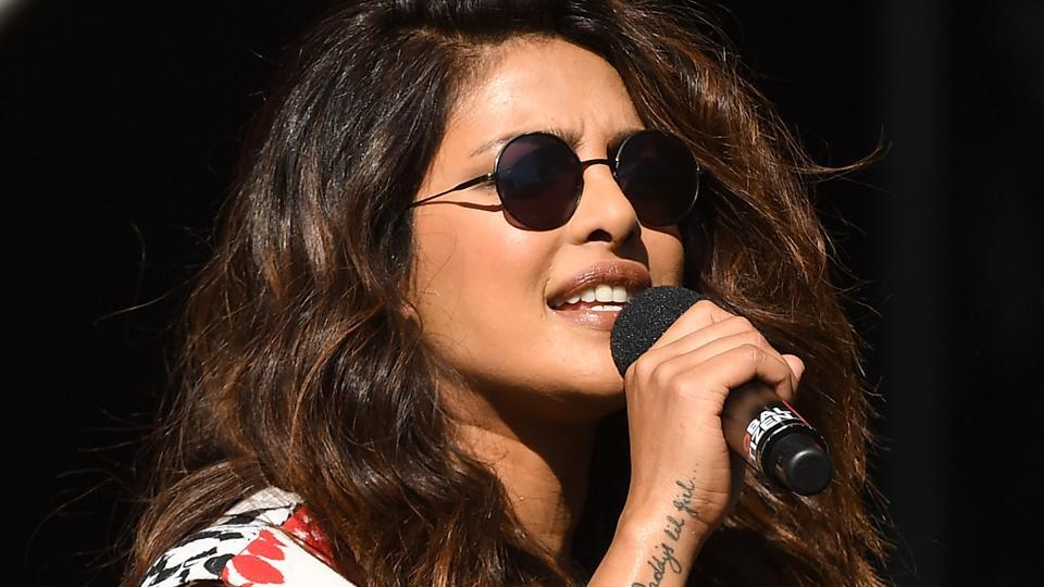 Priyanka Chopra speaks onstage during the 2017 Global Citizen Festival in Central Park to End Extreme Poverty by 2030 at Central Park on September 23.