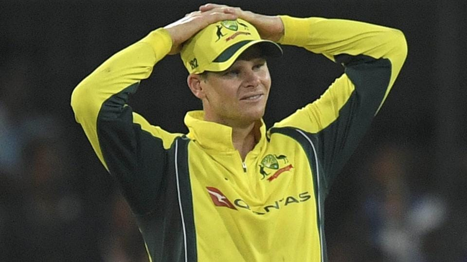 Australian cricket team captain Steve Smith during the 3rd ODI cricket match against India at Holkar Stadium in Indore.