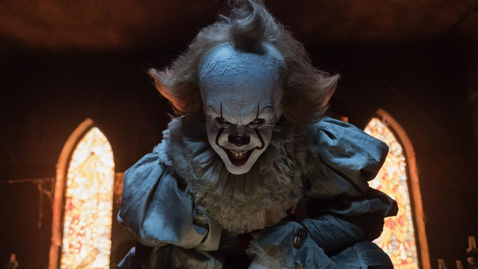 Bill Skarsgard as Pennywise the Dancing Clown in It.