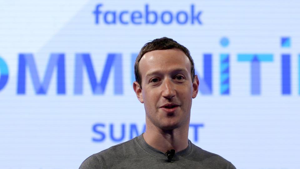 Facebook chief executive officer Mark Zuckerberg in Chicago.
