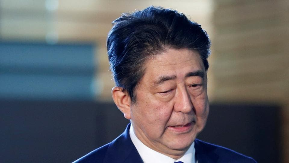 Japan's Prime Minister Shinzo Abe speaks to media after North Korea's missile launch, at his official residence in Tokyo, Japan, September 15.