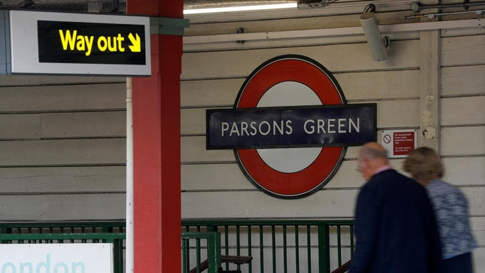 Passengers leave Parson's Green underground station in London after it reopened following an explosion on a rush hour train on September 15, 2017 that injured 30 people.