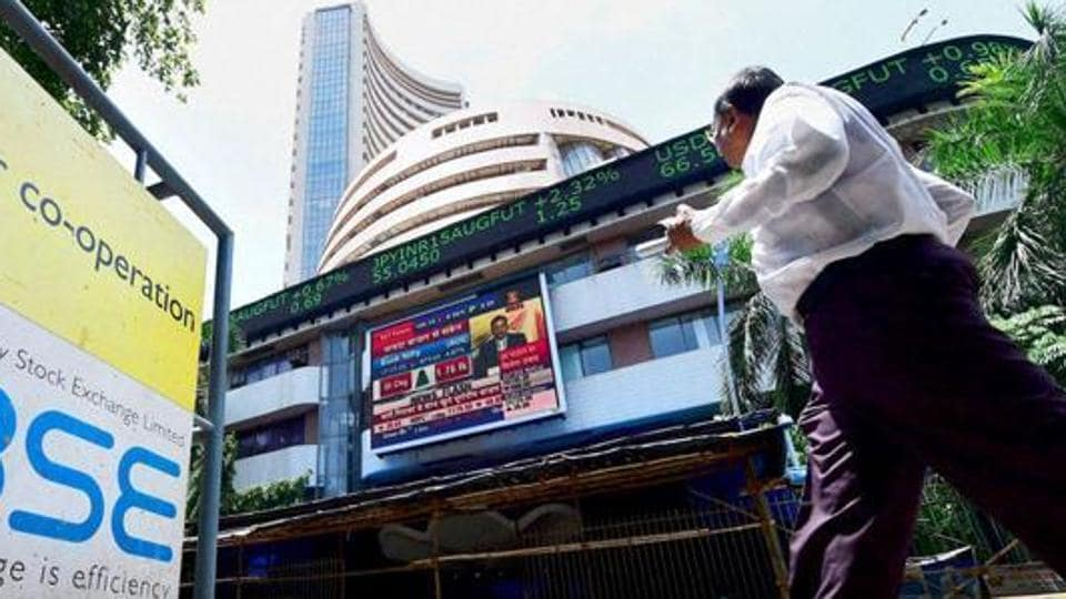 The BSE 30-share barometer tumbled 287.50 points, or 0.90%, to 31,634.94. The gauge had slumped 501.22 points in the previous four sessions.