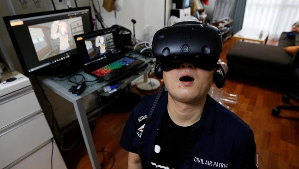 Japan is the world's second biggest virtual reality market after the United States and its adult entertainment industry and gaming sectors are turning to Virtual Reality (VR) as a new way to distribute content. For instance, virtual romantic liaisons for men and women were on display at the 2017 Tokyo Game Show which ran September 21 - 24th this year. (Toru Hanai / REUTERS)