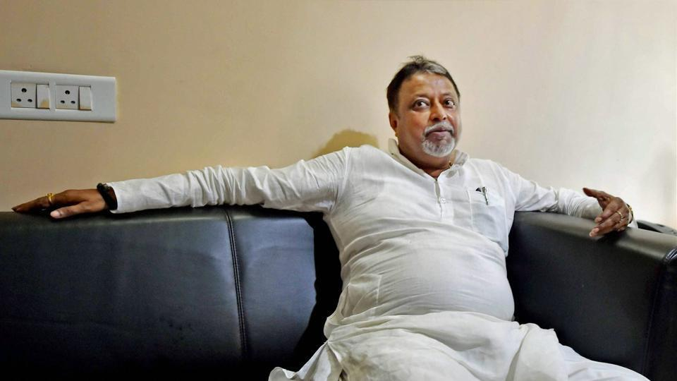 Trinamool Rajya Sabha MP Mukul Roy after announcing his resignation from the party on Monday.