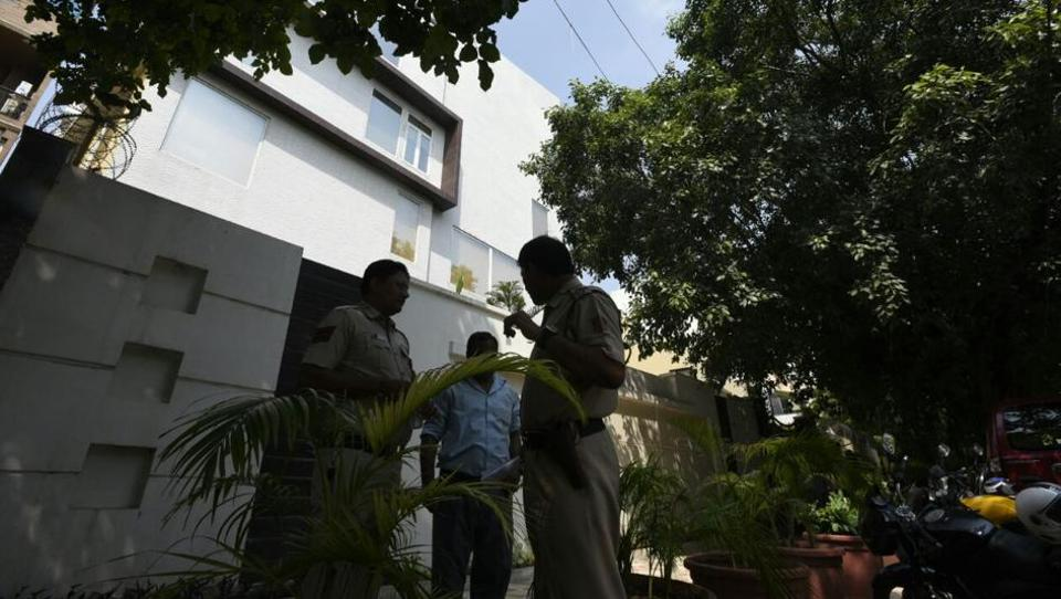 Delhi Police and the Panchkula Police jointly raided the residence in Greater Kailash Enclave, allegedly owned by the Dera.