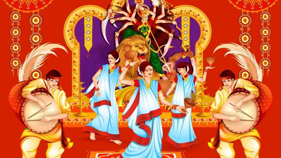 This year Durga Puja festivities begin on 26th September (Shashti) and end on 30th September( Vijaya Dashmi).