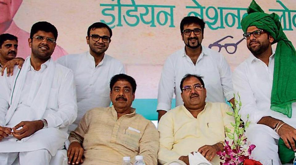 INLD,jailed ex-Haryana CM,Om Parkash Chautala