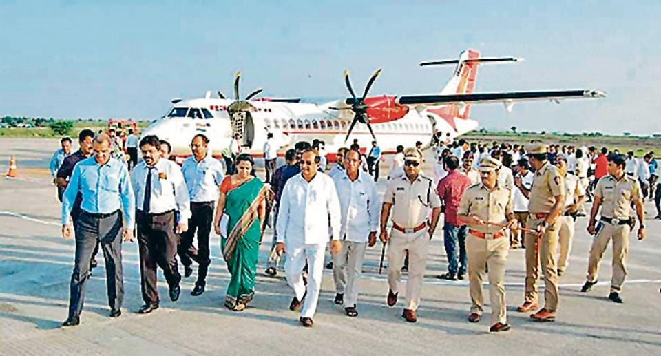 All the dignitaries are landing at the Shirdi  airport on Tuesday evening.