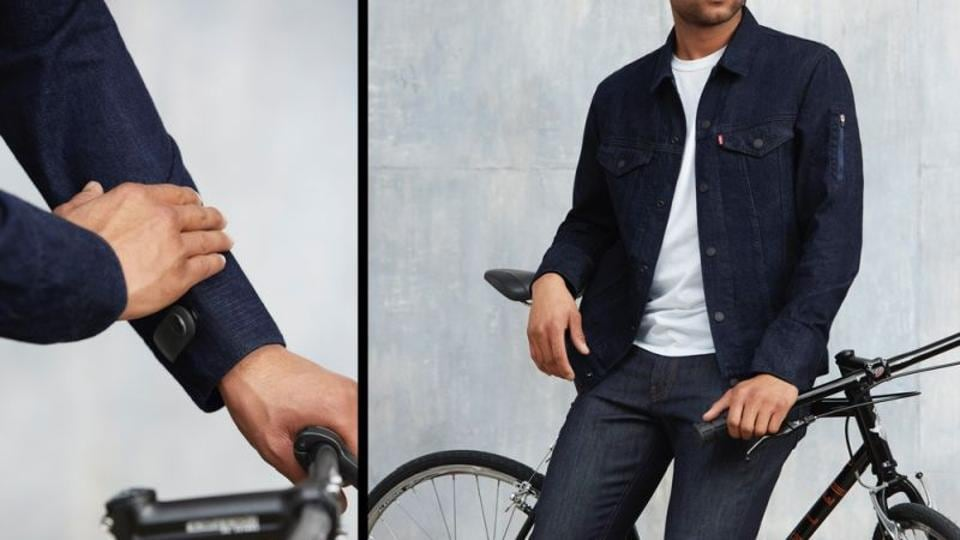 Levi's Commuter Trucker Jacket  is powered by Jacquard technology.