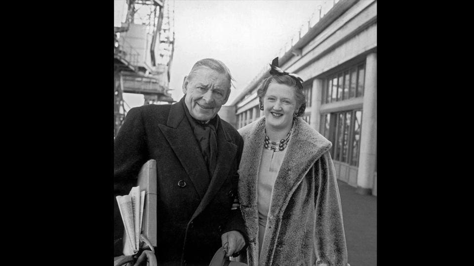 In Southampton, much later in life, with his second wife Valerie, March 21, 1961. (Evening Standard / Hulton Archive / Getty Images)