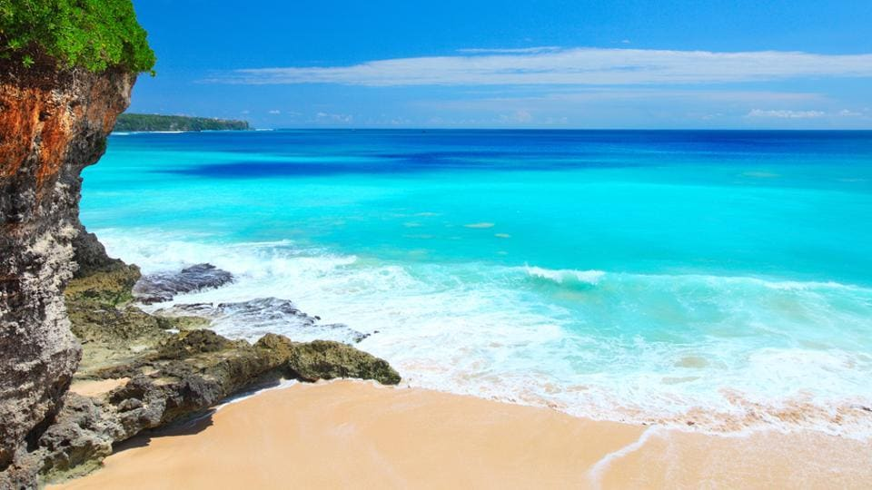 Bali is known for its beaches, blue waters and clear cloudless skies.