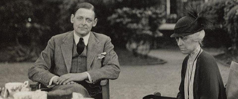 Poet T.S. Eliot died at the age of 76.