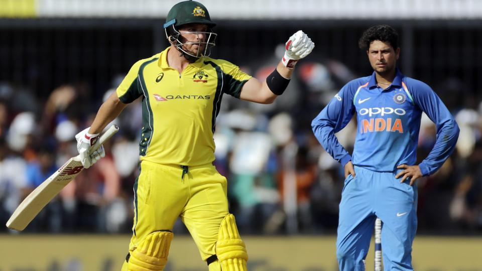 Aaron Finch made his comeback from injury at the third ODI between India and Australia in Indore on Sunday.