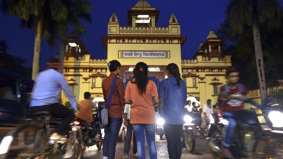 Banaras Hindu University (BHU) students have been protesting against sexual assault by motorcycle-borne assailants.