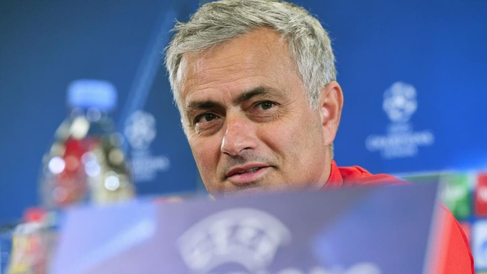Manchester United managerJose Mourinho gives a press conference at the Stadion CSKA Moskva in Moscow on September 26, 2017 on the eve of the UEFA Champions League Group A football match between CSKA Moscow and Manchester United FC.